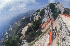 CAP D'AIL, FRANCE GENERAL VIEW . GRUNDIG DOWNHILL WORLD CUP 1994