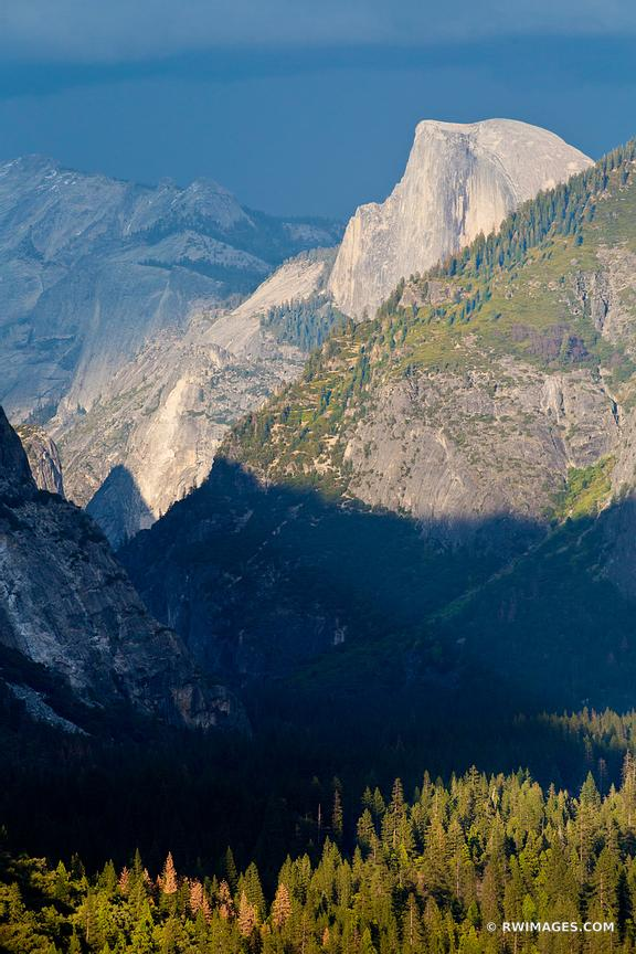 HALF DOME AT SUNSET TUNNEL VIEW YOSEMITE NATIONAL PARK COLOR VERTICAL