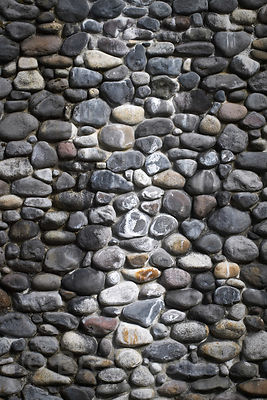 Stone texture on an old wall in the Catskills Mountains, New York