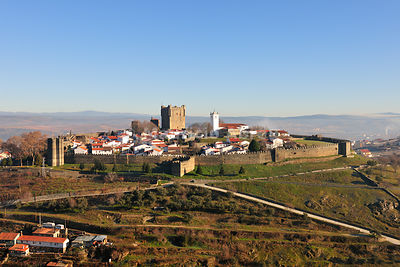 The castle and historical center of Bragança, one of the old cities of Portugal, Trás-os-Montes