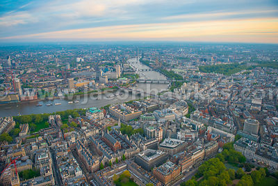 Aerial view of Aldwych, London