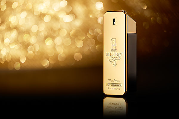 Still Life Perfume and cosmetic Photographer London : Paco Rabanne  One Million Perfume