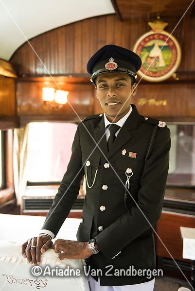 Conductor in the The Viceroy Special Tourist Train, Kandy Railway Station, Kande, Sri Lanka