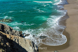 Surf Rolling in along Portugese Beach in Sonoma Coast State Park in California