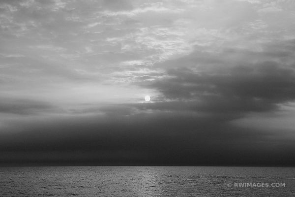 DAWN SUMMER SOLSTICE ROCK ISLAND DOOR COUNTY BLACK AND WHITE