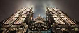 Cathedral of Clermont Ferrand at night