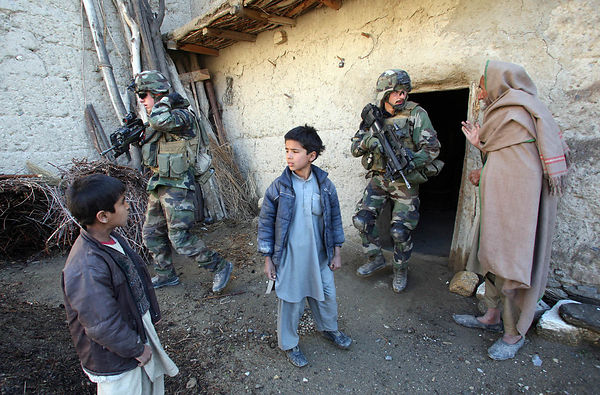2009. explosives search operation conducted by the 27th mountain infantry battalion in the village of Sherkhel in Bedraou Valley kapisa Province.