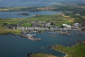 Aerial view of Ardglass and Coney Island