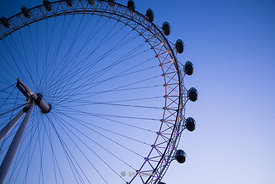 London Eye, a giant Ferris wheel situated on the banks of the River Thames in London, UK.