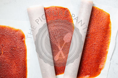 Peach and apricot fruit leather.