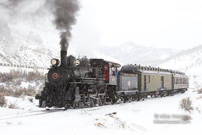 Nevada Northern Railway Engine #40 and Steptoe Flyer