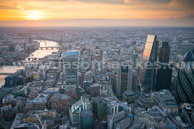 London aerial view, City of London, Englnad, UK