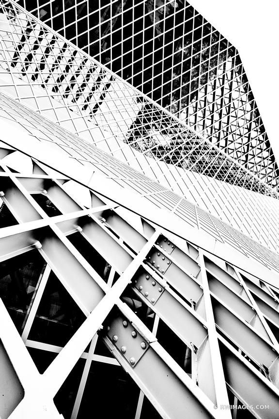 SEATTLE PUBLIC LIBRARY BLACK AND WHITE