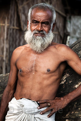 Portrait of a very fit elderly man in Taratala, Kolkata, India.