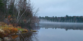Penobscot River November Fog