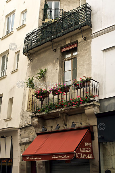 Balconies above a Boulangerie