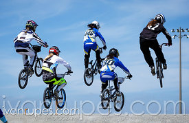 The elite women's final at the BMX Canada Cup #1, Centennial Park, Toronto, On, June 13, 2015
