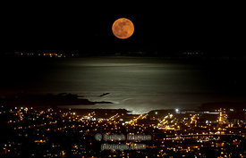 Super Moon and Luminous Water