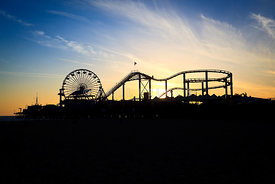 Santa Monica Pier Sunset Photo