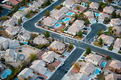 Housing development in Las Vegas, Nevada
