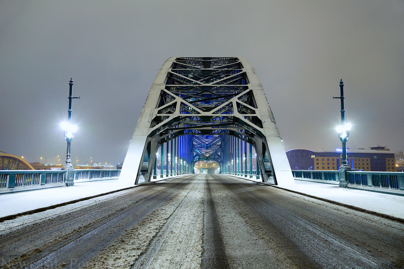 Snow on the Tyne Bridge
