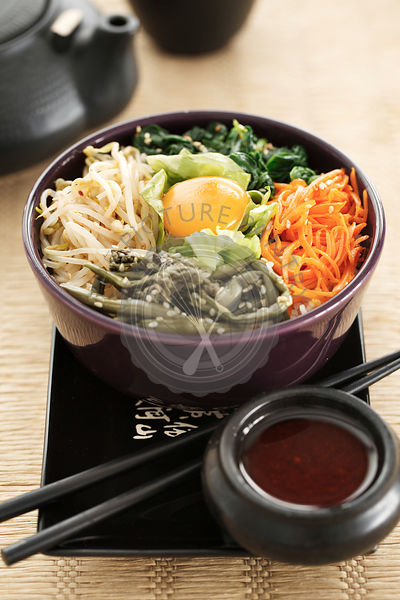 Bibimbap is a traditional dish of Korean cuisine