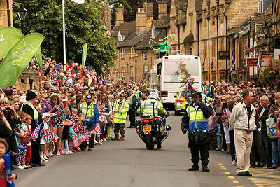 Jubilant Crowds at Olympic Torch Relay