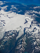 Aerial View Of Mountain Glaciers Alaska