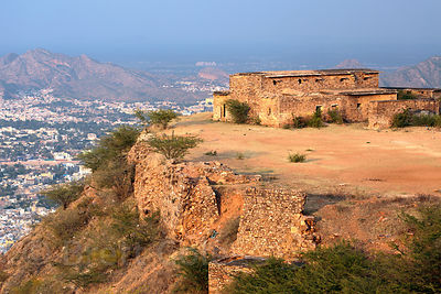 Taragarh Fort and Ajmer, Rajasthan, India