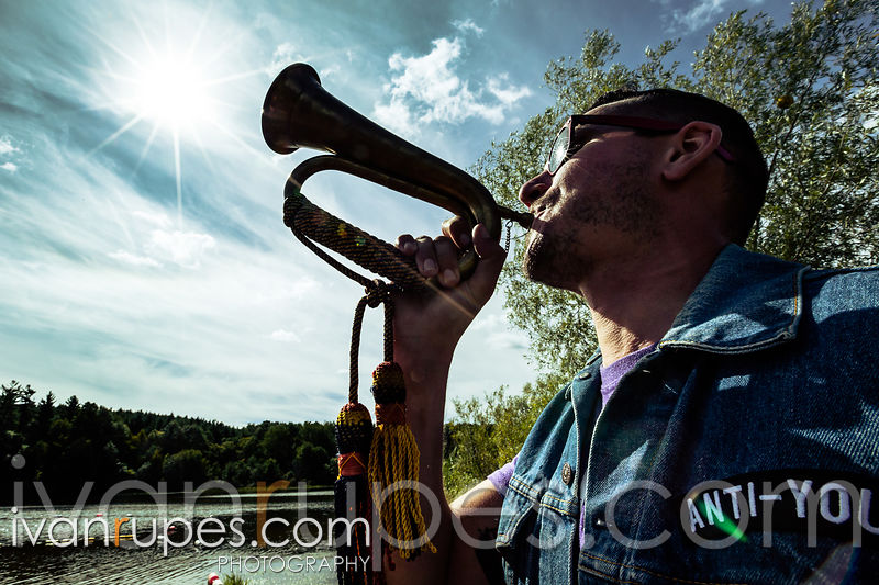 A fan is making noise at Dirt Squirrel 'Cross, O-Cup #1, September 20, 2015