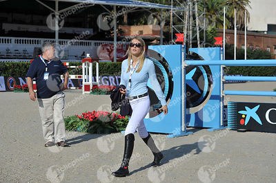 Jessica MENDOZA ,(GBR) during Coca-Cola Trofey competition at CSIO5* Barcelona at Real Club de Polo, Barcelona - Spain