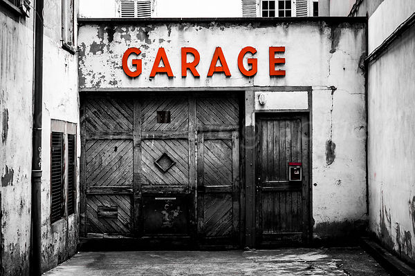 Street Photo - The Old Garage