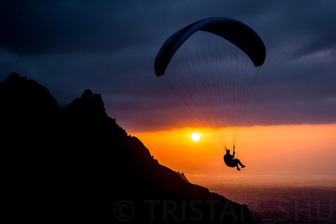 Sunset flying at Taganana with Chicco Flylibell