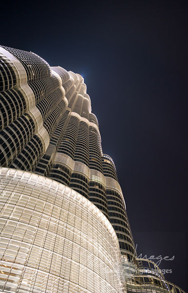 In Perspective - The Burj Khalifa at Night - Dubai, United Arab Emirates