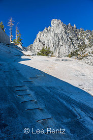 Hiking Route on Smooth Granite in The Enchantments