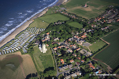 aerial photograph of Happisburgh, Norfolk England  UK