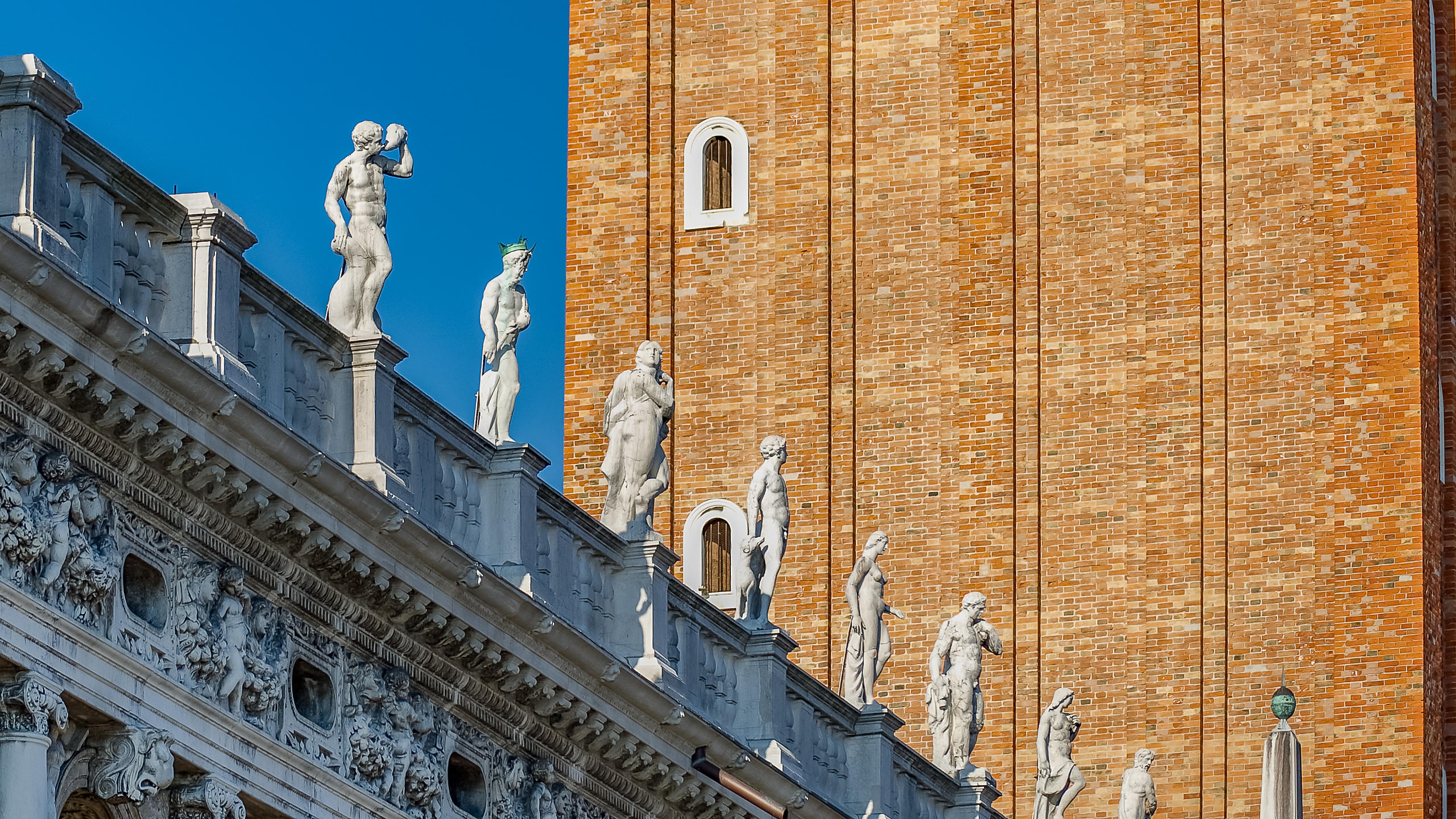 Detail of the Biblioteca Nazionale Marciana and Campanile