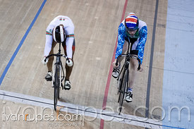 Men Sprint 1-2 Final. Milton International Challenge, Mattamy National Cycling Centre, Milton, On, September 30, 2016