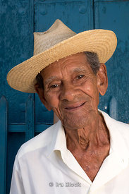 Portrait of a man on the street in Trinidad, Cuba.