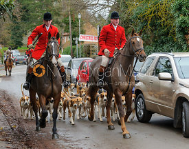 Huntsman John Holliday (right) and the Belvoir foxhounds