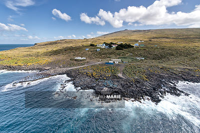 The Martin-de-Viviès scientific station, Amsterdam subantarctic island