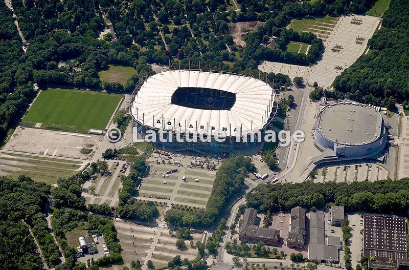 latitude image volksparkstadion imtech arena aerial photo. Black Bedroom Furniture Sets. Home Design Ideas
