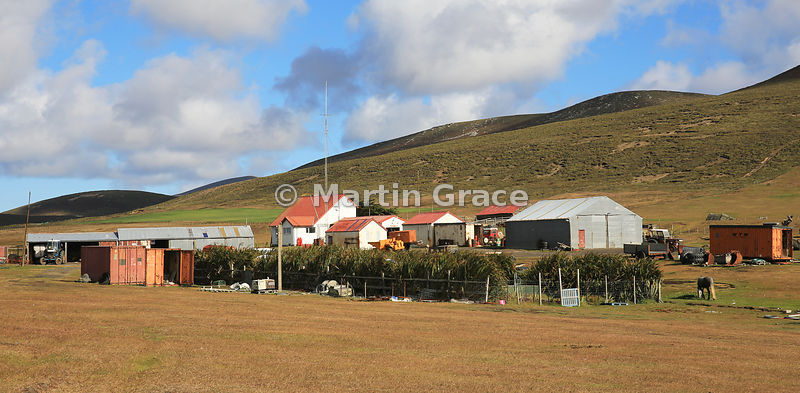 Typical Falkland Islands settlement buildings, here at Saunders Island Settlement
