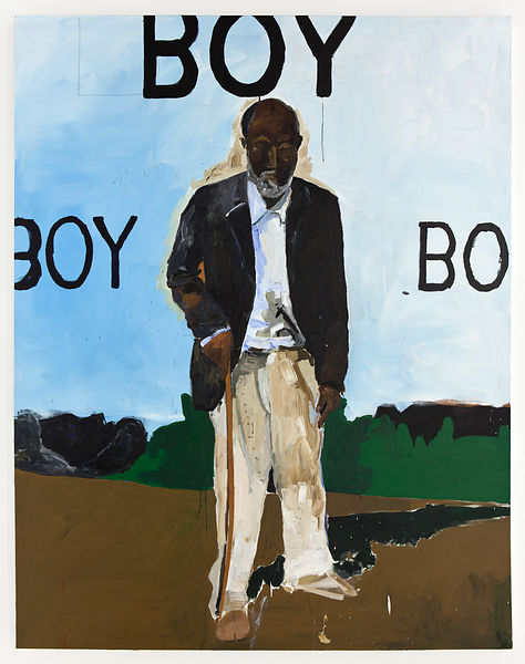 Henry Taylor That Was Then., 2013 Acrylic on canvas 95 x 75 x 3 1/4 inches