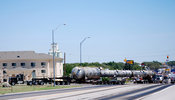Oversize load in Clarendon, Texas