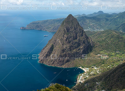 Piton's in St Lucia in the Carribean