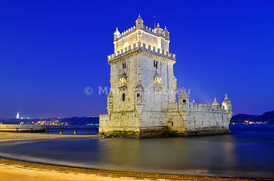 Torre de Belém (Belém Tower), a UNESCO World Heritage Site built in the 16th century, Lisbon, Portugal