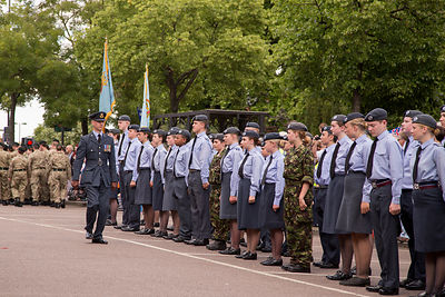 Flight Lieutenant Karl Kisley prepares the Banbury Air Training Corps Squadron for the parade