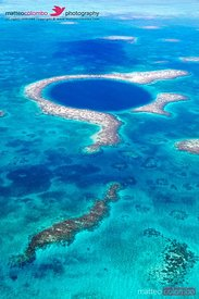 Aerial of the Great Blue Hole, Lighthouse Reef, Belize