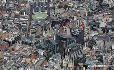 aerial photograph of New Street Square & off New Fetter Lane London